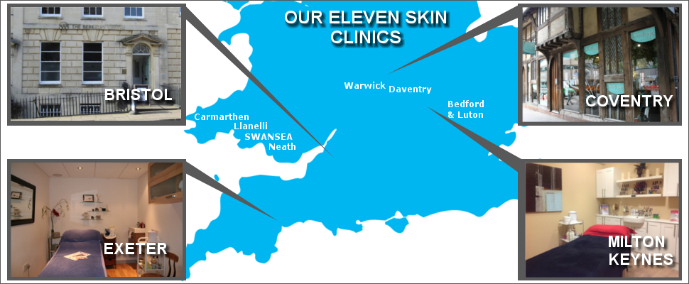 Skin Beautiful Clinics Exeter, Milton Keynes, Bristol, Coventry, Bedford, Warwick, Swansea, Carmarthen Daventry